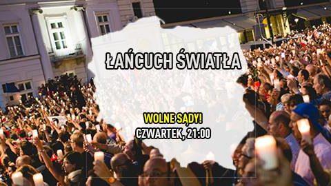 Łańcuch Światła w całej Polsce