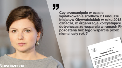 Interpelacja Posłanki Moniki Rosy w sprawie Funduszu Inicjatyw Obywatelskich