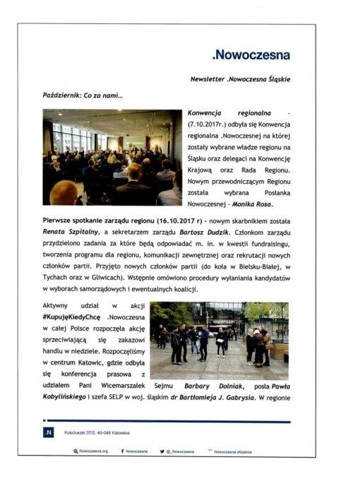 Newsletter Nowoczesna Śląskie