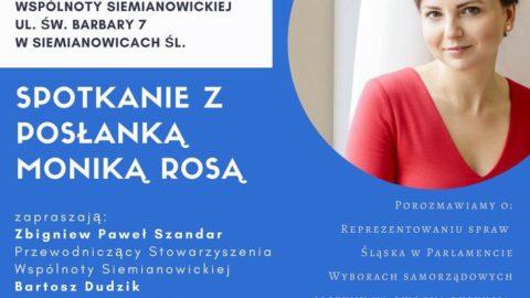 Spotkanie z Panią Poseł Moniką Rosą w Siemianowicach Śląskich
